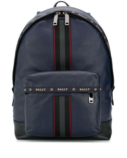 Рюкзак С Контрастными Полосками Bally для него, цвет: Multicolor