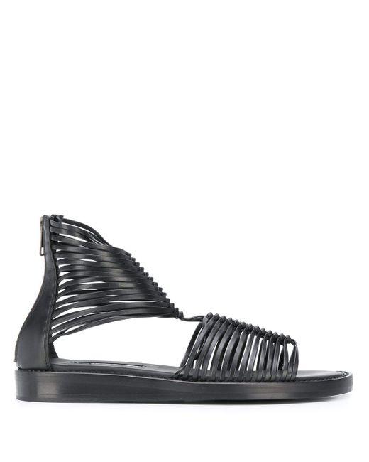 Sandales à design à brides Ann Demeulemeester en coloris Black
