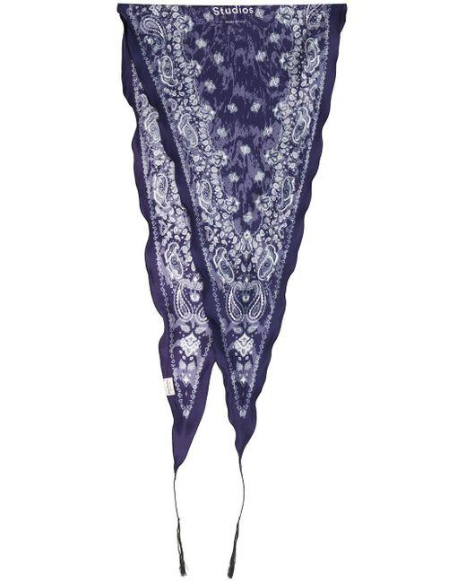 Acne ダイヤシェイプ バンダナ Blue