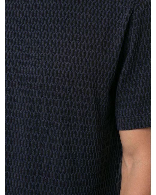 メンズ Giorgio Armani テクスチャード Tシャツ Blue