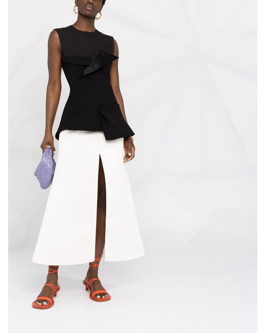 Falda de cintura alta con abertura A.W.A.K.E. MODE de color Multicolor