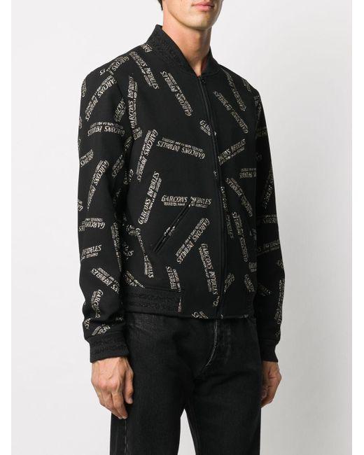 Garçons Infideles ロゴ ボンバージャケット Black