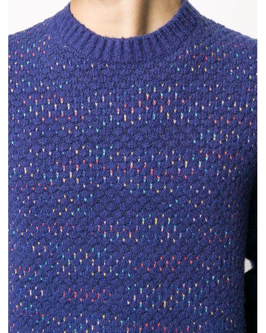 メンズ Missoni オールオーバーパターン プルオーバー Blue