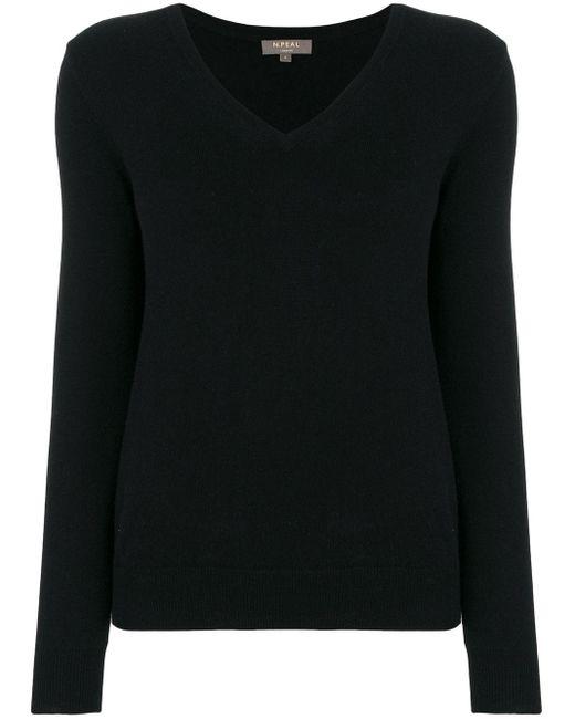 N.Peal Cashmere カシミア セーター Black