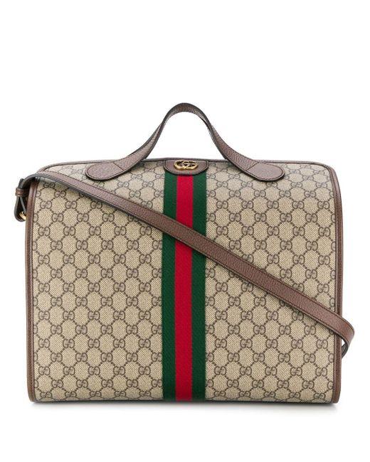メンズ Gucci ロゴ ボストンバッグ Multicolor