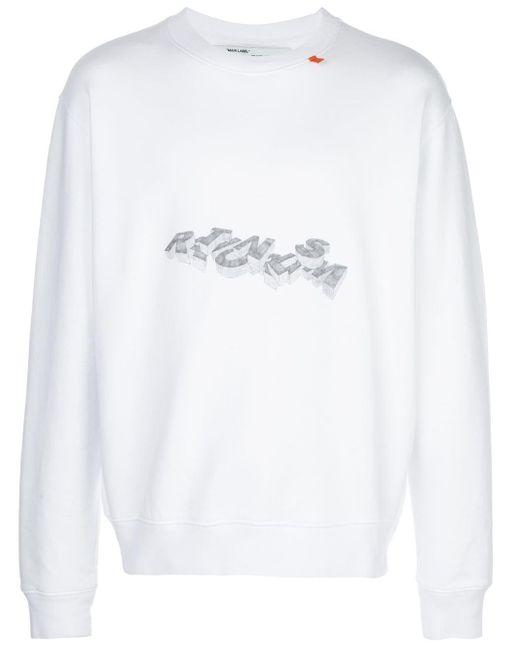 メンズ Off-White c/o Virgil Abloh グラフィック スウェットシャツ White