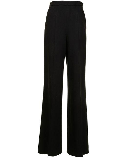 Giambattista Valli Black High-waisted Flared Trousers