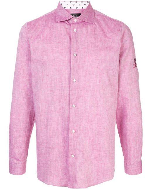 メンズ Loveless ロングスリーブ シャツ Pink