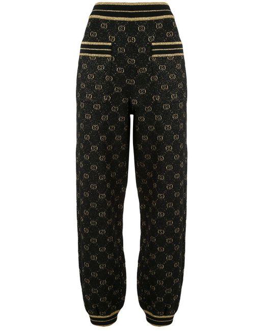 Gucci GGスプリーム ニットパンツ Black