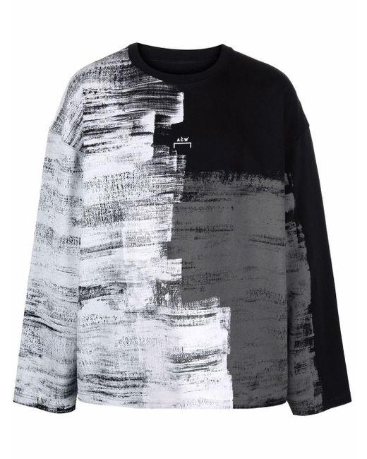 Maglione con stampa di A_COLD_WALL* in Black da Uomo