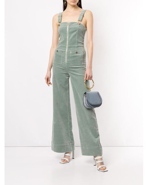 5b3ebba4f56 ... Alice McCALL - Green Quincy Zip Front Overalls - Lyst ...