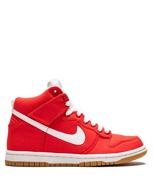 Nike Dunk High スニーカー Red