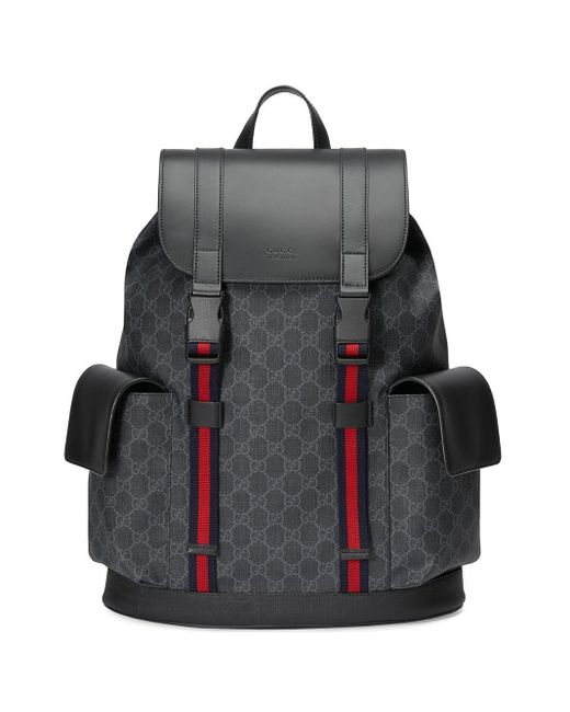 Gucci - Black Rucksack aus weichem GG Supreme for Men - Lyst