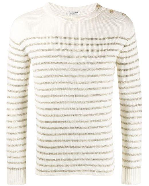 メンズ Saint Laurent ボタンショルダー セーター Multicolor