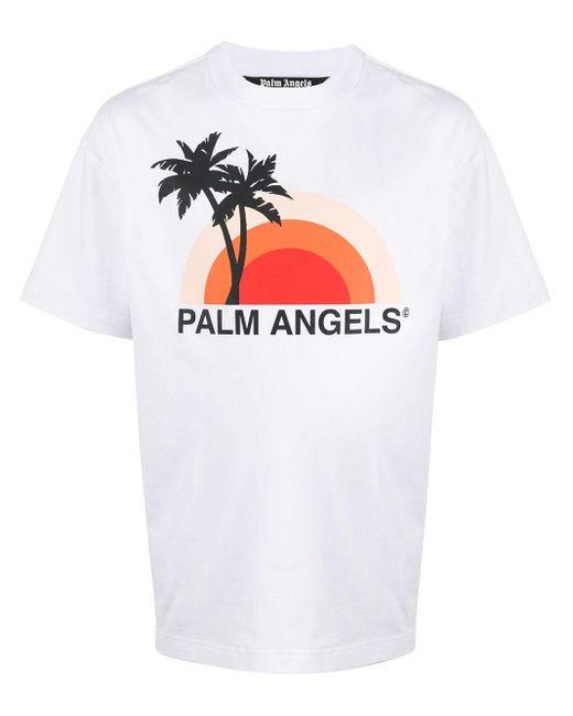 メンズ Palm Angels パームツリー Tシャツ White