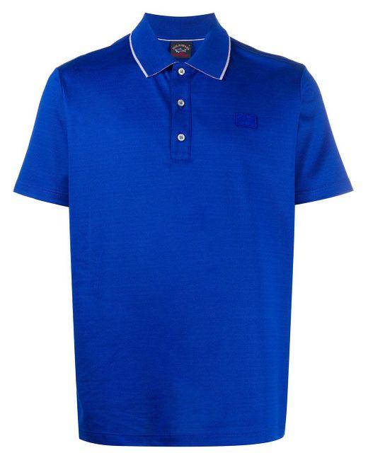 メンズ Paul & Shark ロゴ ポロシャツ Blue