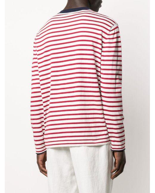 Brunello Cucinelli Gestreiftes Sweatshirt in White für Herren