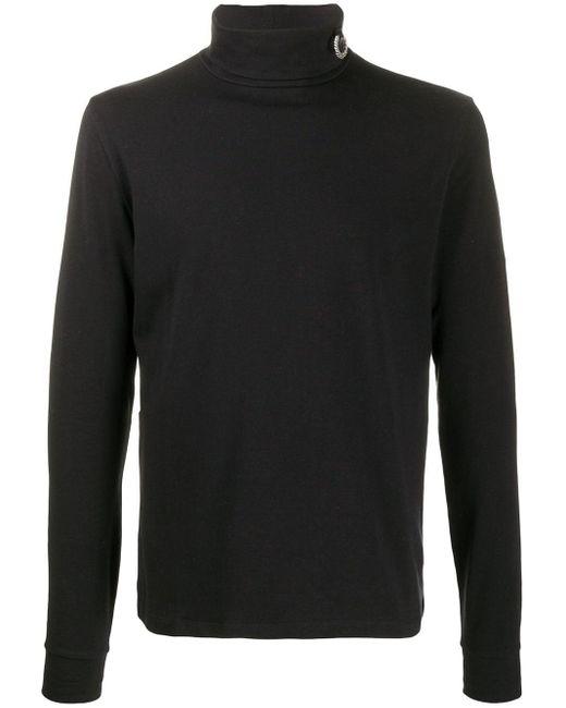 メンズ Fred Perry タートルネック スウェットシャツ Black