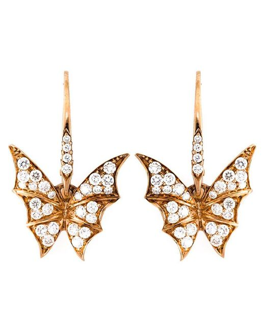 Stephen Webster - Metallic Diamond Wing Earrings - Lyst