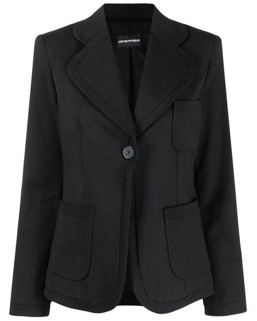 Emporio Armani テーラード シングルジャケット Black