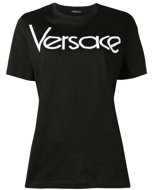 Versace ロゴ Tシャツ Black