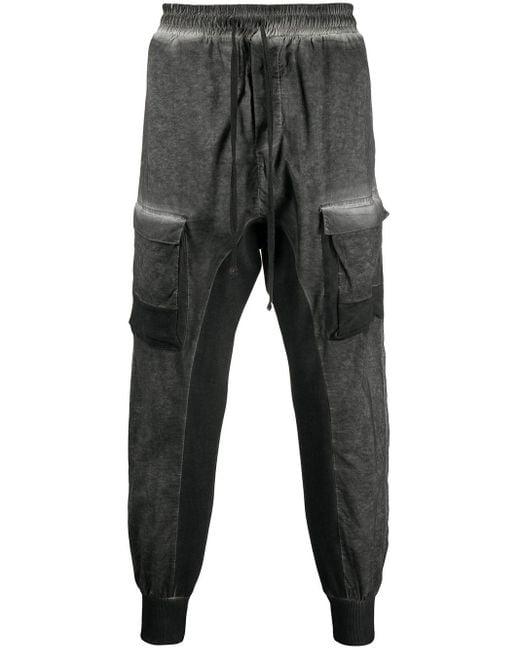 Thom Krom Gray Stonewash Tapered Track Pants for men