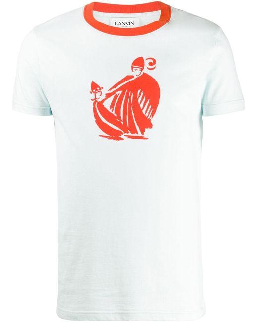 メンズ Lanvin ロゴ Tシャツ White