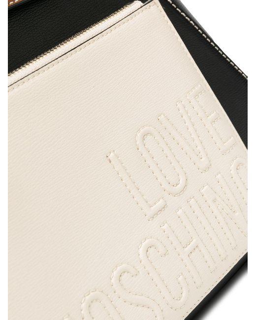 Рюкзак В Стиле Колор-блок Love Moschino, цвет: Black
