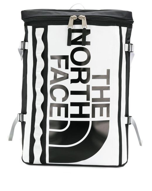 d4373fbbfb The North Face - Black Contrast Logo Backpack for Men - Lyst ...