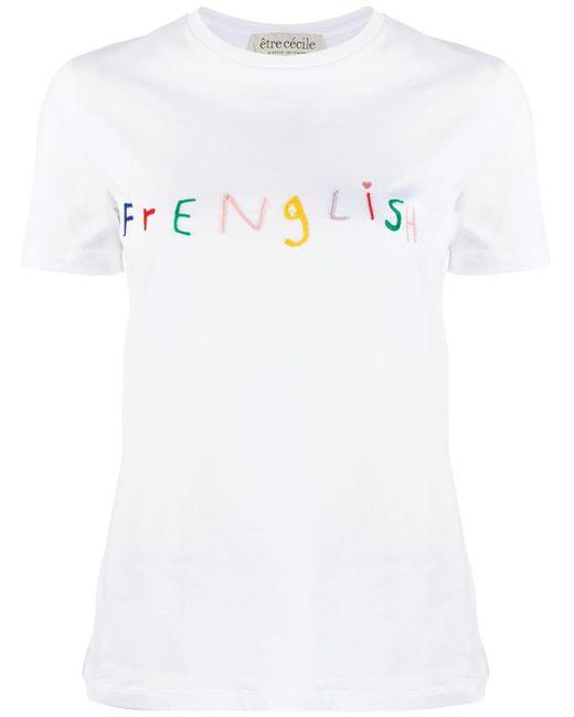 Être Cécile White Frenglish T-shirt