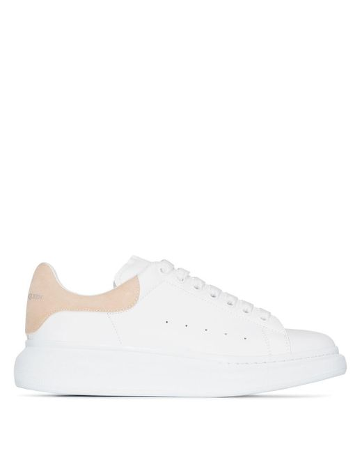 Alexander McQueen White Chunky Low Top Sneakers for men