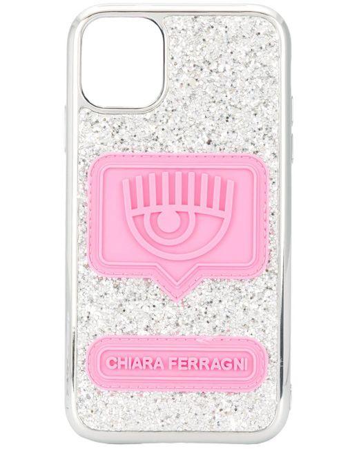 Чехол Eyelike Для Iphone 11 С Блестками Chiara Ferragni, цвет: Metallic