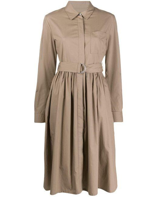MSGM Aライン シャツドレス Natural