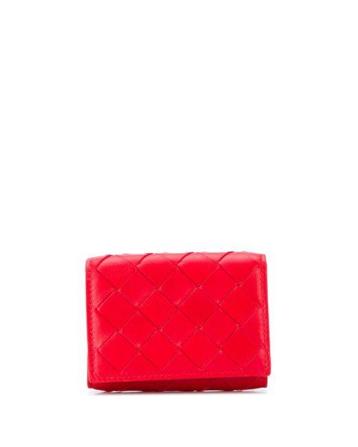 Bottega Veneta 三つ折り財布 Red