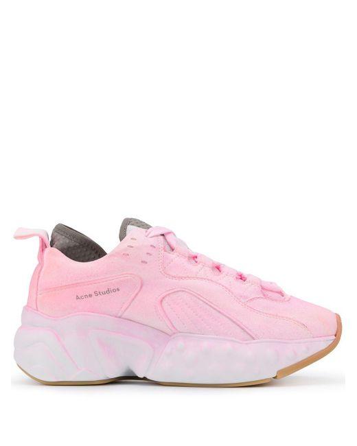 Acne Studios Zapatillas Manhattan teñidas de mujer de color rosa