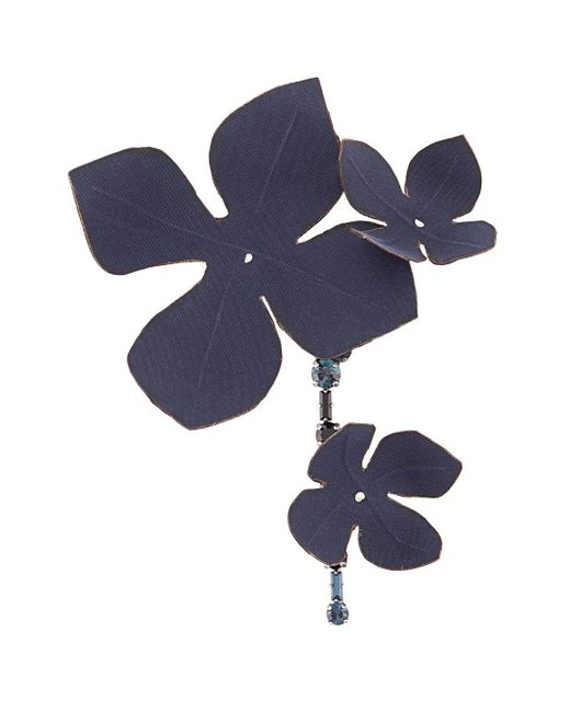 Брошь В Виде Цветка Marni, цвет: Blue