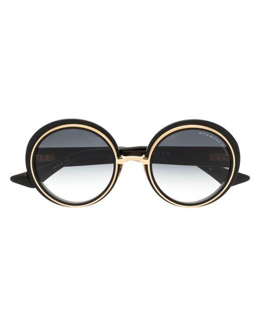 Dita Eyewear ラウンドフレーム サングラス Black