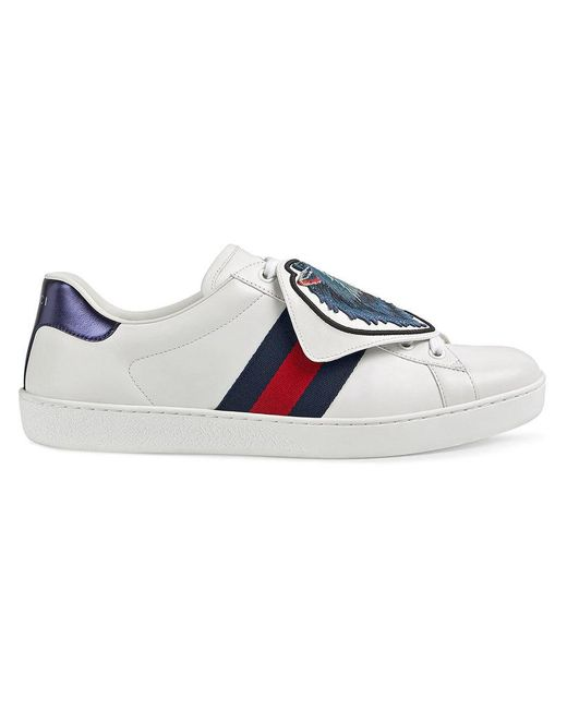 9aa40a09530 Gucci Ace Sneakers With Removable Patches in White for Men - Save 1 ...