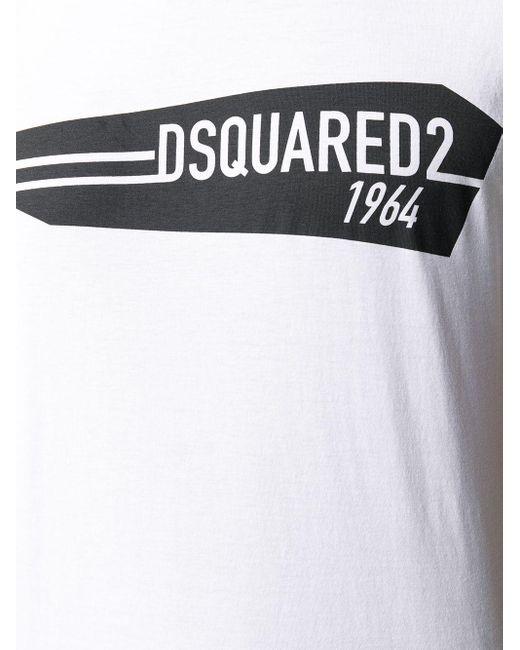 T-shirt à logo DSquared² pour homme en coloris White