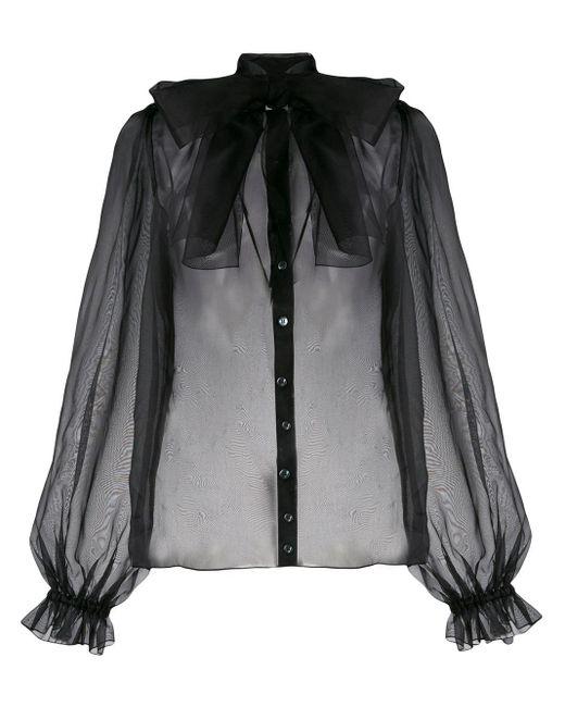 Dolce & Gabbana レースアップ ブラウス Black