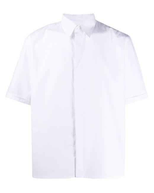 メンズ Fendi コンシールプラケット シャツ White