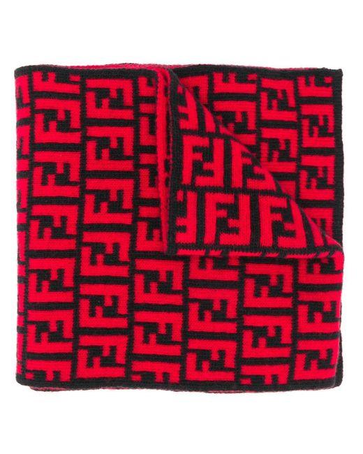 メンズ Fendi モノグラム スカーフ Black