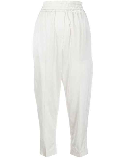 Брюки С Эластичным Поясом Brunello Cucinelli, цвет: White