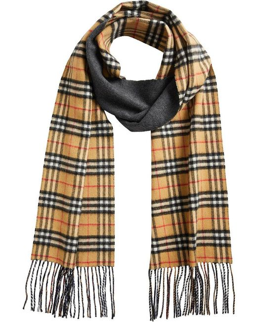 Burberry - Blue Vintage Check Reversible Scarf - Lyst