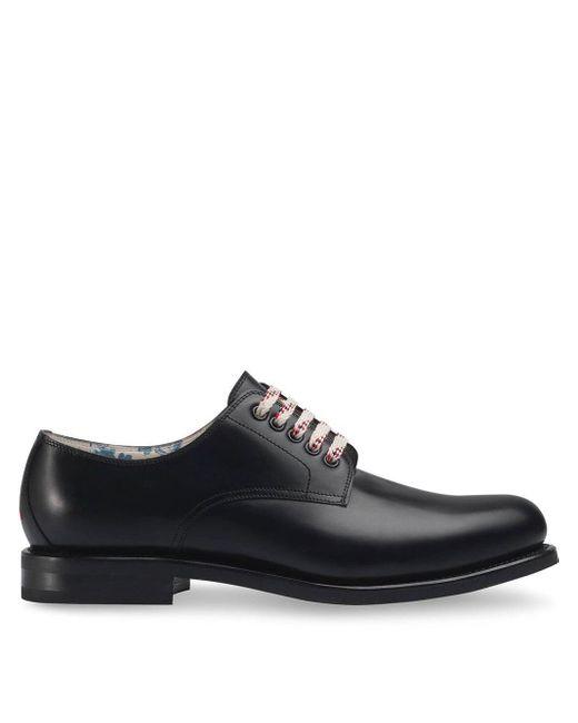 Туфли На Шнуровке Gucci для него, цвет: Black