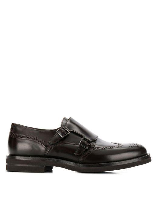 Монки С Двойным Ремешком Brunello Cucinelli для него, цвет: Black
