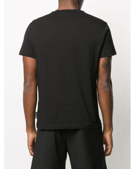 Футболка С Короткими Рукавами И Логотипом Versace Jeans для него, цвет: Black