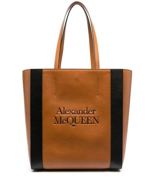 Alexander McQueen Brown Großer Shopper