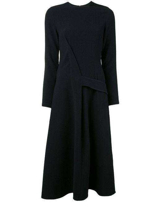 Victoria Beckham Black Belted A-line Dress