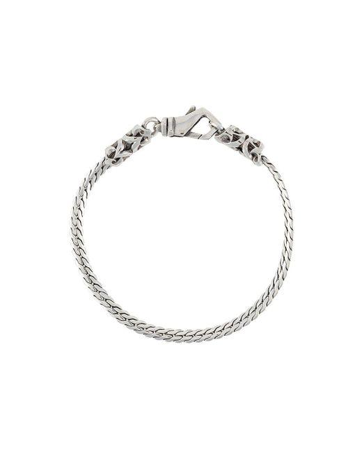 Emanuele Bicocchi Metallic Herringbone Chain Bracelet